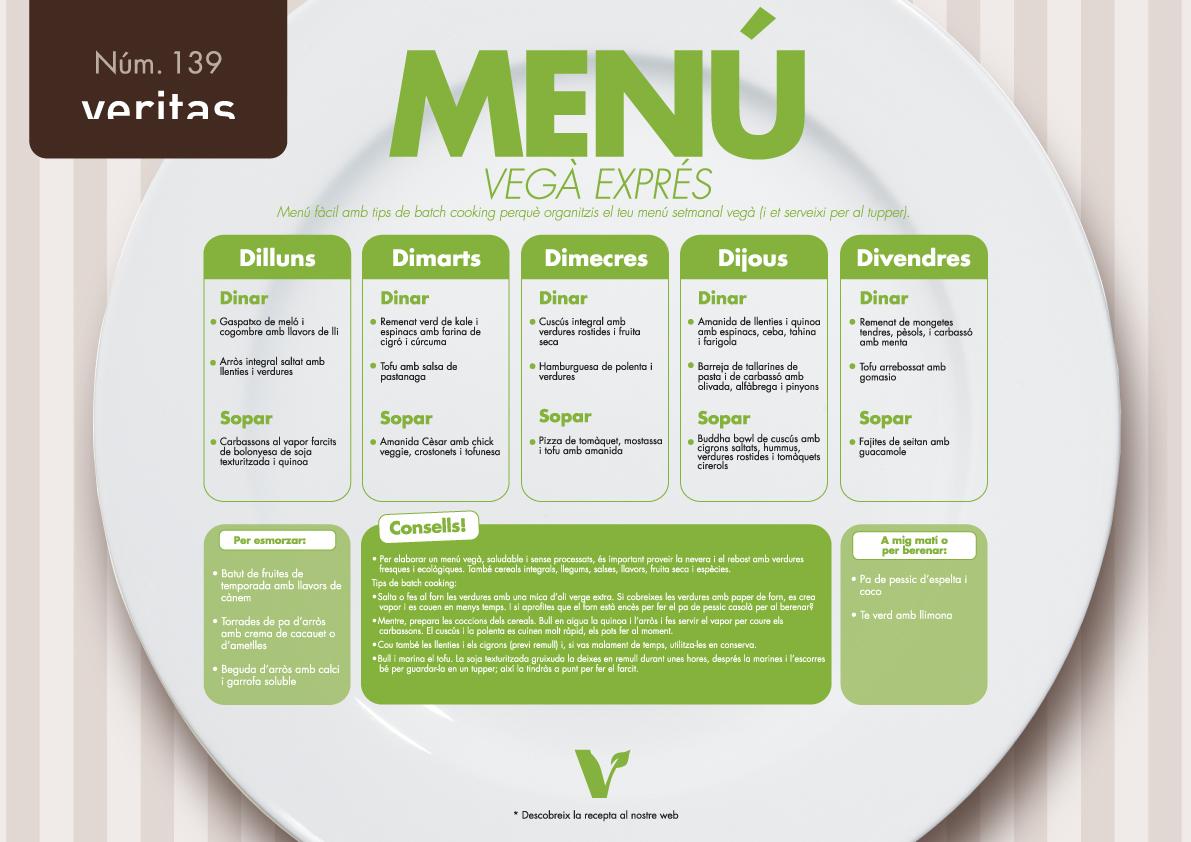 Vegà exprés - Menús - Veritas