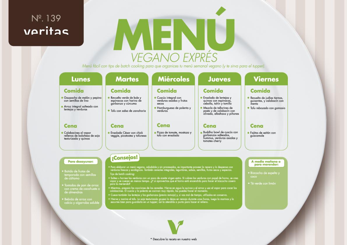 Vegano exprés - Menús - Veritas
