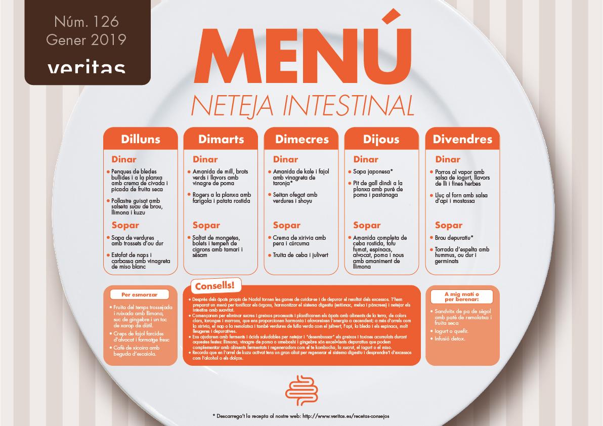 Neteja intestinal - Menús - Veritas
