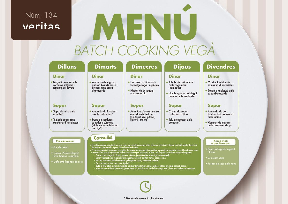 Batch cooking vegà - Menús - Veritas
