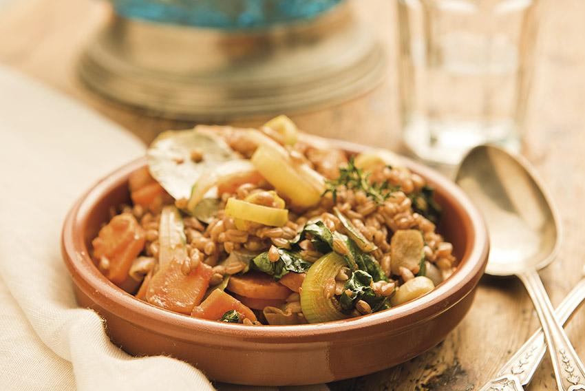 Cazuela de verduras con espelta - Veritas