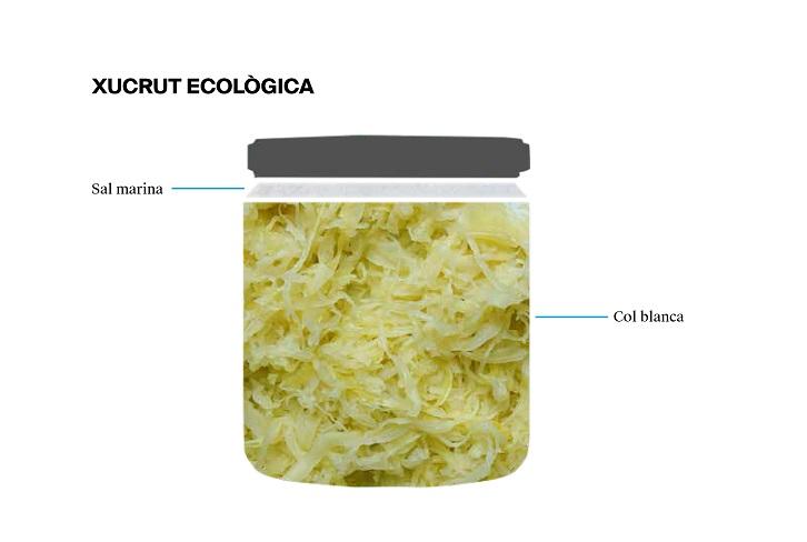 L'etiqueta d'una xucrut ecològica - Veritas
