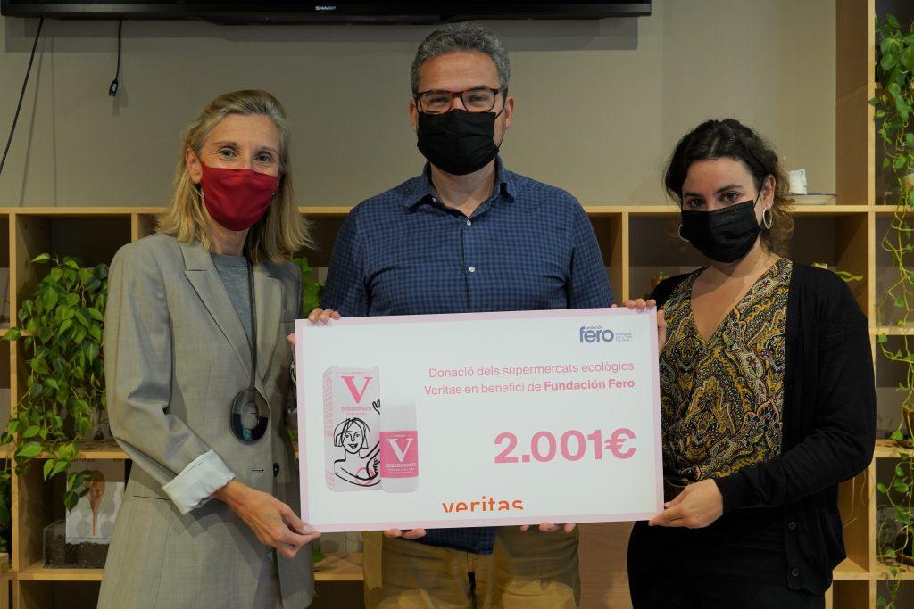 """Campanya """"Aixeca la Mà"""" - Donació a Fundació FERO - Veritas"""