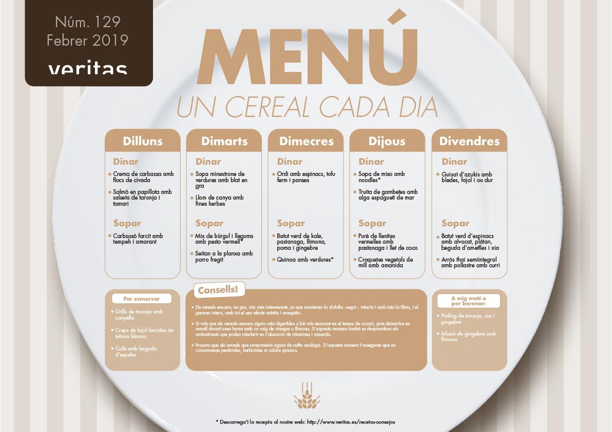Un cereal cada dia - Menús - Veritas
