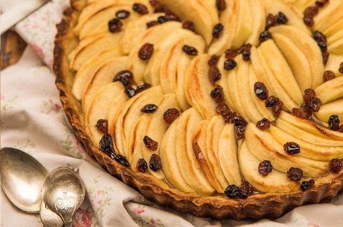 Pastel de manzana con aceite de coco - Veritas