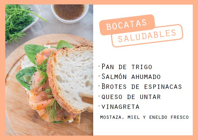 Bocata de salmón ahumado, espinacas y vinagreta - Veritas