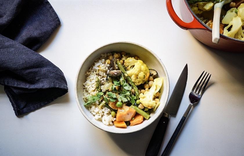 Arròs amb curri de verdures - Receptes - Veritas