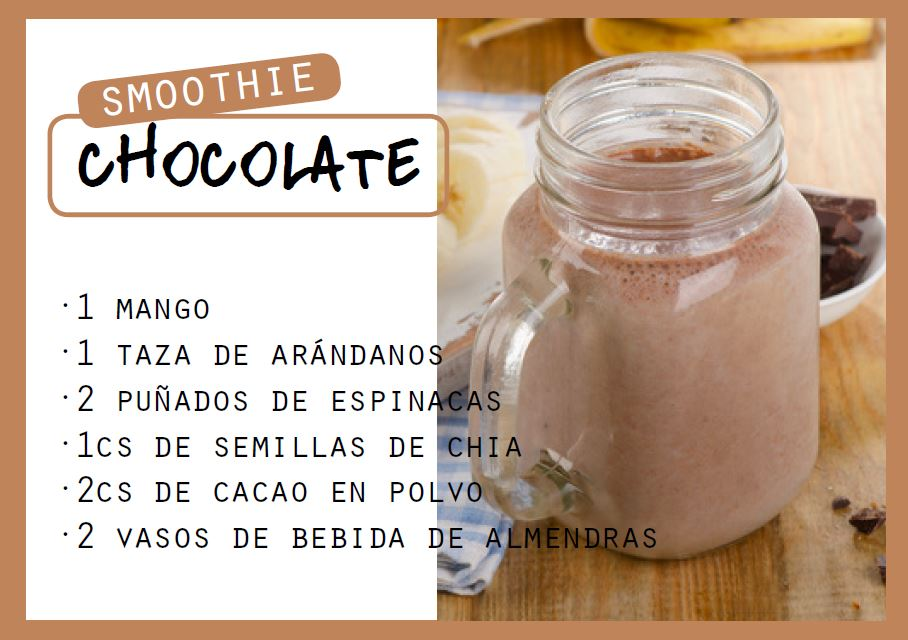 Smoothie de chocolate negro saludable - Veritas
