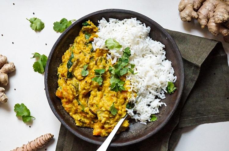 Dhal amb verdures i arròs basmati - Receptes - Veritas