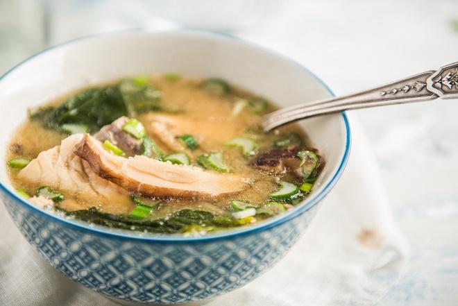 Dorada en sopa de miso - Veritas