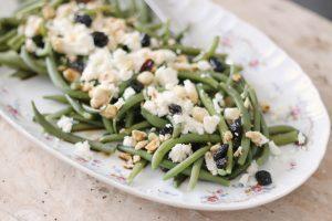Judías verdes con tamari y queso feta - Veritas