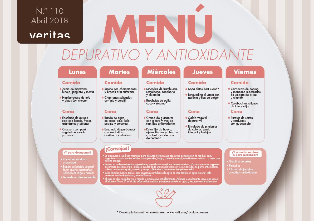 dieta antioxidante depurativa