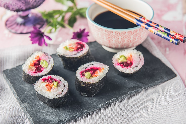 Makis de verduras y queso - Veritas