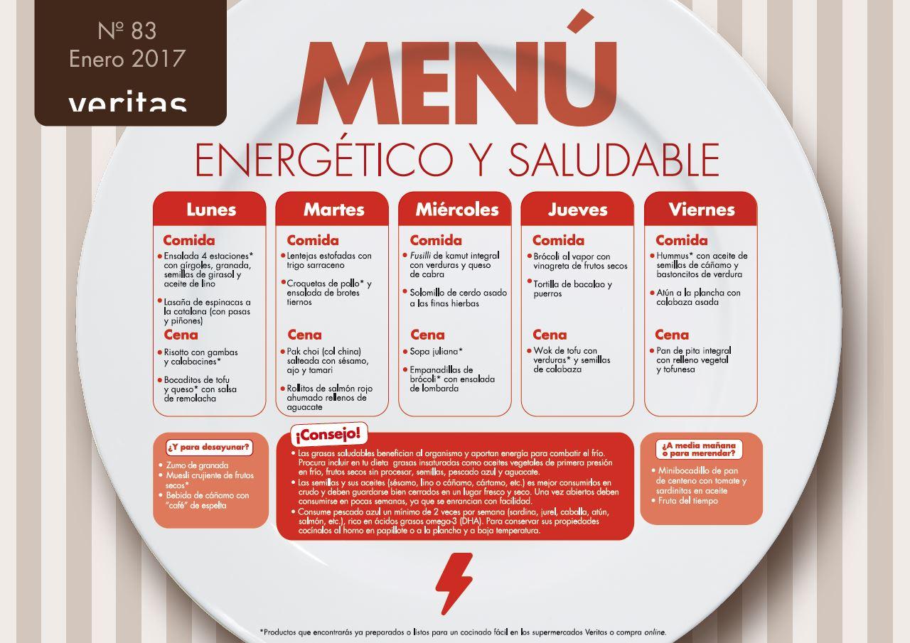 Energ tico y saludable men s veritas ecol gico for Comida saludable para toda la semana