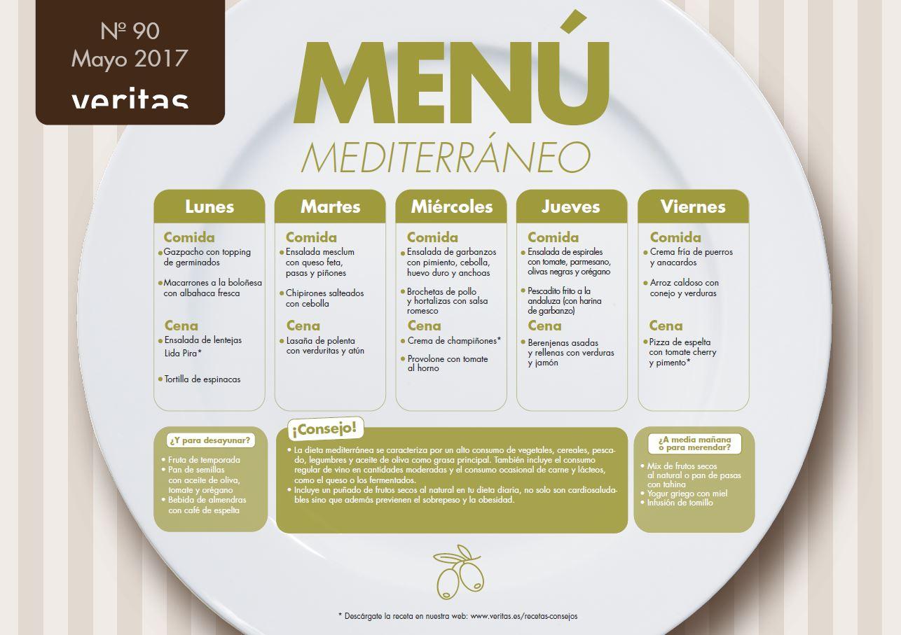 menu cena dieta mediterranea