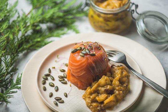 Timbal De Salmón Ahumado Con Chutney De Mango Recetas